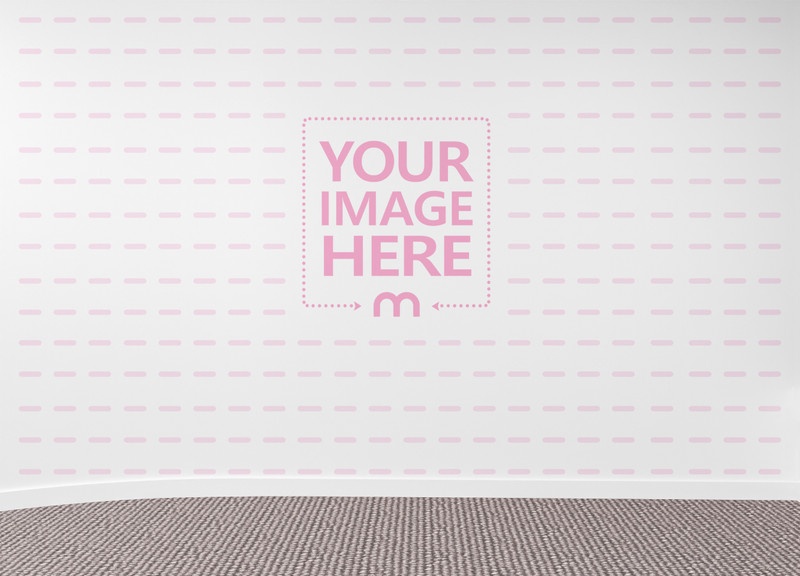 Wall Art Print Mockup of an Empty Room With Carpet Below
