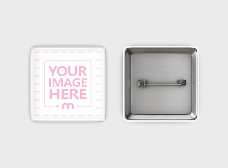 Square Pin Badge Mockup Generator