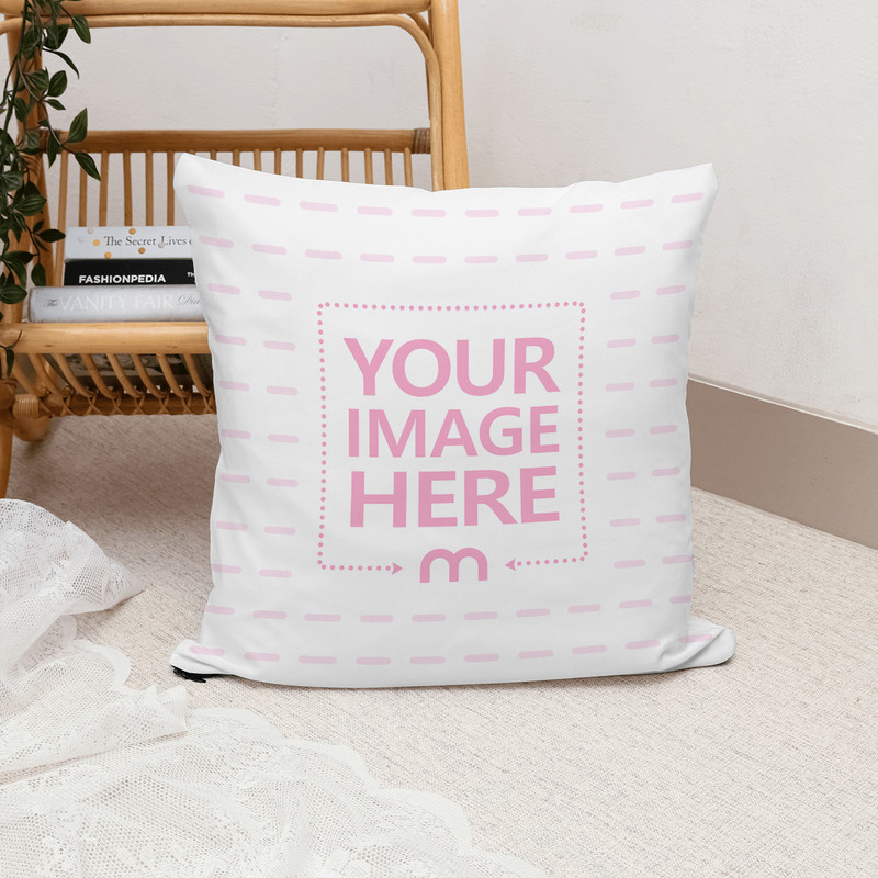 Pillow in Decorated Scene Mockup Generator