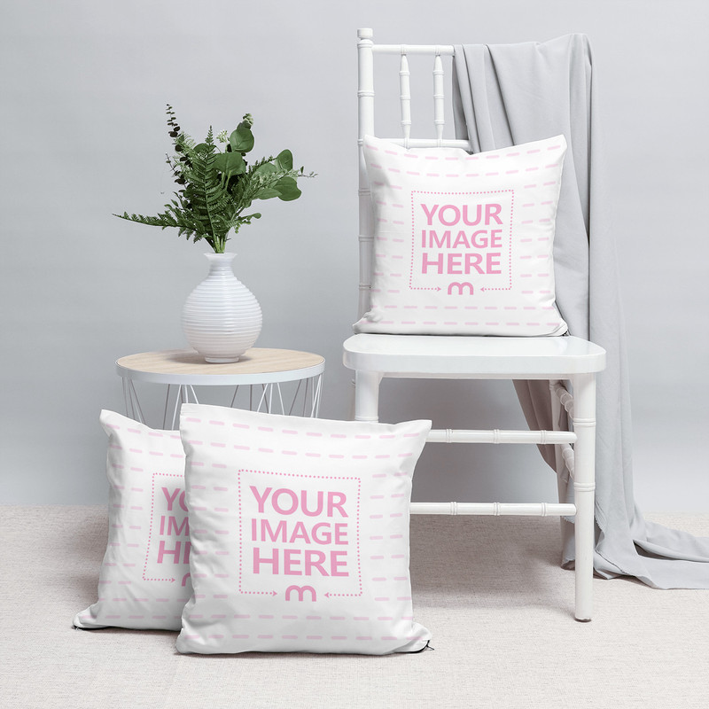 Pillows Mockup in Decorated Scene