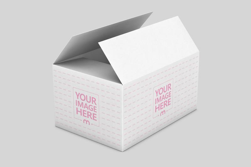 Open Delivery Box Mockup Generator