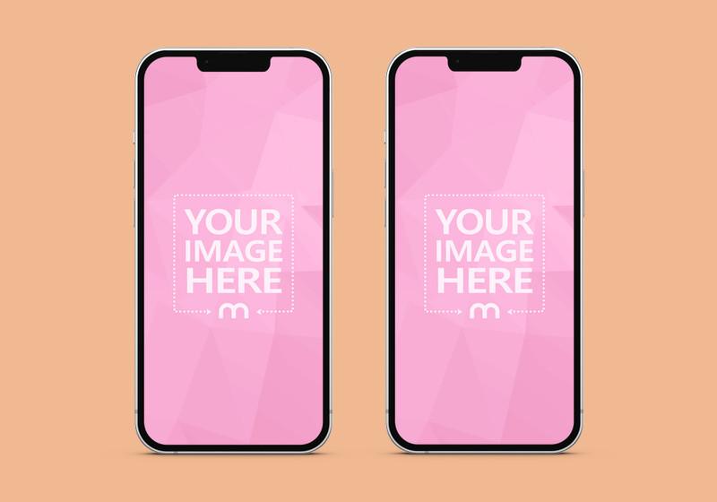 iPhone 13 Double Screen Mockup