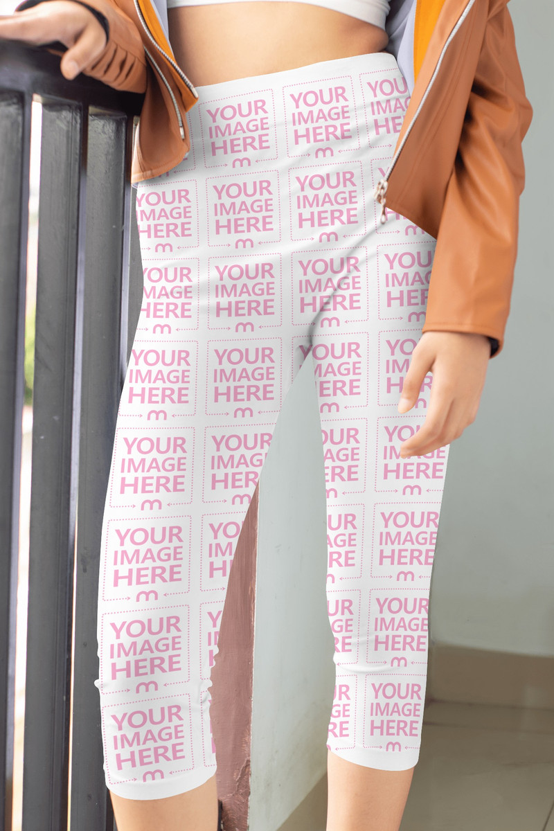Legging Mockup With Featuring a Standing Woman Focused on Her Lower Half
