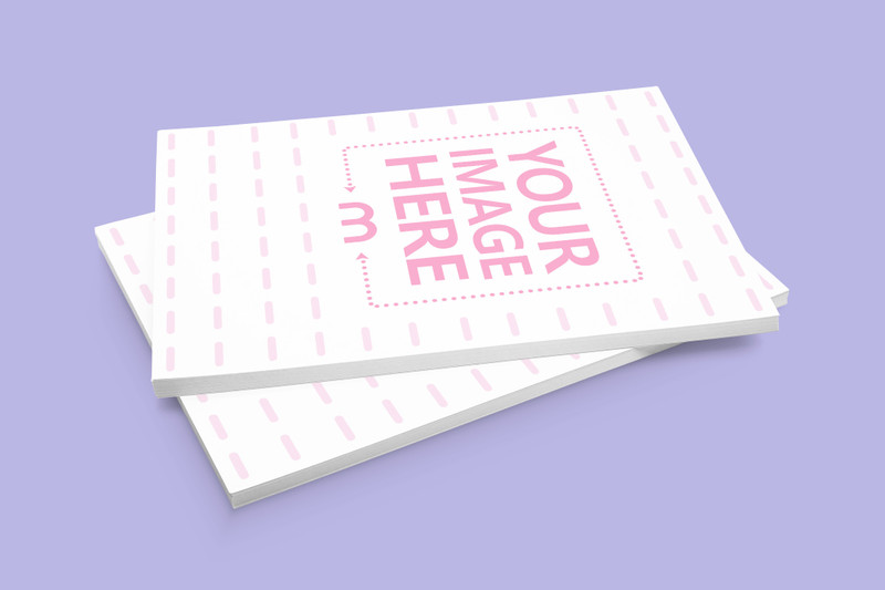 Two Stacks of A5 Paper Mockup
