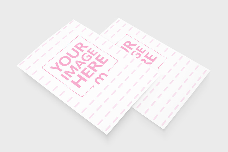 Two A5 Papers Showcase Mockup